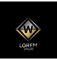 Letter W logo vector image