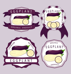the blue eggplant vector image