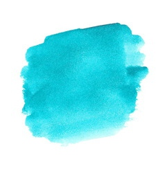 Turquoise watercolor spot vector image vector image
