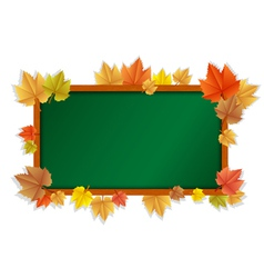 autumn blackboard vector image vector image