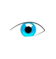 Blue eye abstract symbol vector image vector image