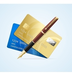 Card and Pen Business Concept vector image vector image