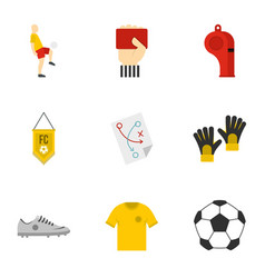 football icons set flat style vector image vector image