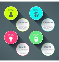 infographic boards template in modern flat vector image