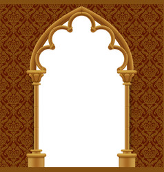 stone gothic gate with classic decorative vector image vector image