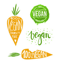 vegan set vector image