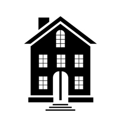 A three-storey building icon simple style vector image
