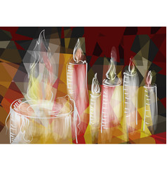 Abstract burning candles vector