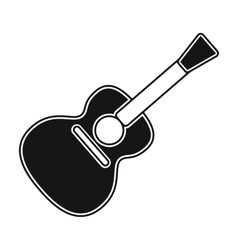 Acoustic guitar icon in black style isolated on vector