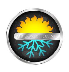 Air conditioning system symbol vector