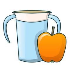 Apple water jug icon cartoon style vector