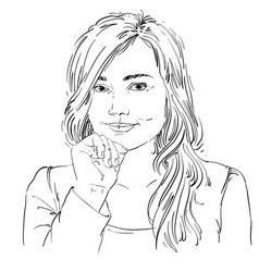 artistic hand-drawn image black and white vector image