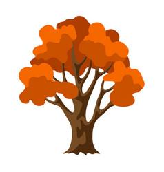 Autumn stylized tree vector