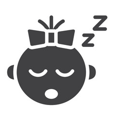 Bagirl sleep solid icon child and infant vector