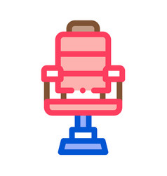 barber shop armchair icon outline vector image