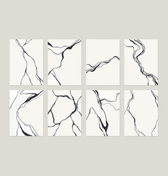 Black and white grey abstract marble stone design vector