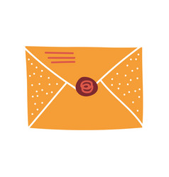 Blank retro mail envelope with seal vector
