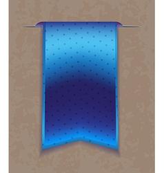 Blue bookmark ribbon vector