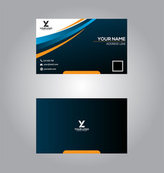 business card template modern abstract design vector image