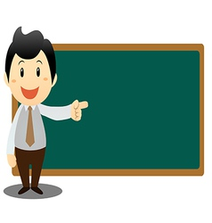 Business man with blackboard vector