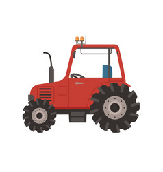Countryside transport tractor vehicle car vector