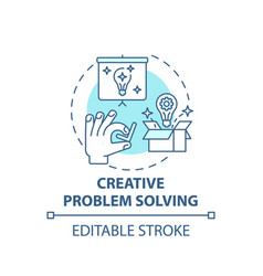 Creative problem solving concept icon vector