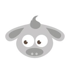 Cute cartoon donkey icon vector