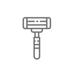 Disposable shaving razor line icon vector