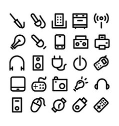 Electronics Icons 6 vector image