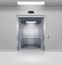 Elevator doors vector