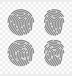 fingerprint finger print logo icons vector image