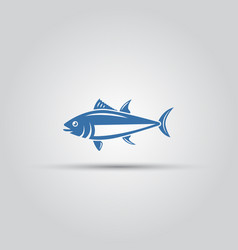 fish icon isolated bluefin fish icon vector image