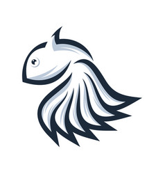 fish logo design ready to use vector image