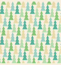 Forrest of pine in vintage style pattern vector