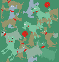 funny dogs playing vector image