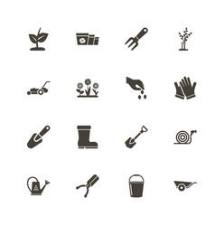 Garden - flat icons vector