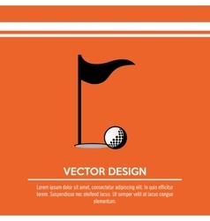 Golf club design vector