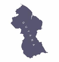 guyana silhouette map vector image