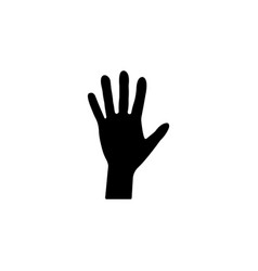 hand icon black vector image