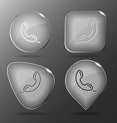 Handset Glass buttons vector image