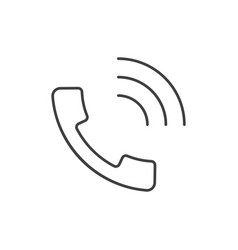 Handset outline icon vector