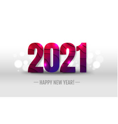 happy new year holiday postcard vector image
