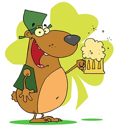 Happy St Patricks Day Bear vector