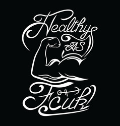 healthy strong popeye design vector image