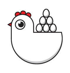 hen and eggs vector image