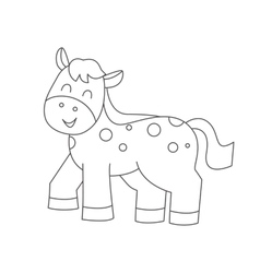 Horse for coloring book vector image