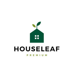 house leaf logo icon vector image
