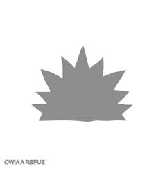 Icon with adinkra symbol owiaa repue vector