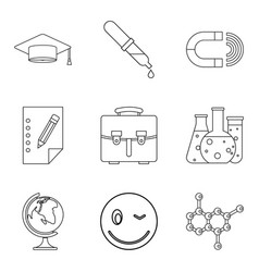 Important knowledge icons set outline style vector