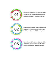 infographic design elements circle button vector image
